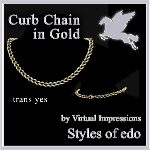 Curb-Chain-in-Gold-poster